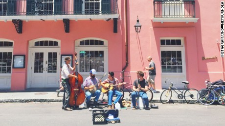 Live street music can be found in the French Quarter.