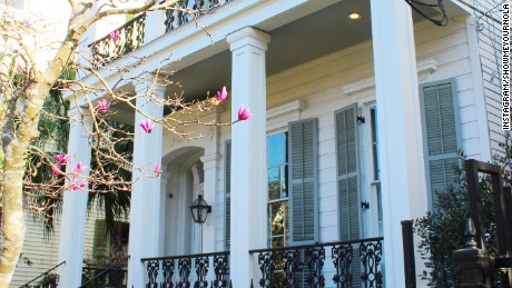 One of the many pristine homes within the Garden District.