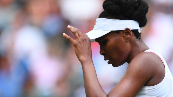 The 37-year-old Venus is a five-time Wimbledon singles champion.