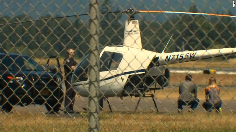 Gunman tries to steal helicopter from airport