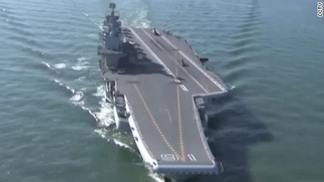 Rare look inside China's aircraft carrier