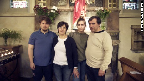 The Alves family -- Tiago, Fatima, Ines and Miguel -- are active members of their church.