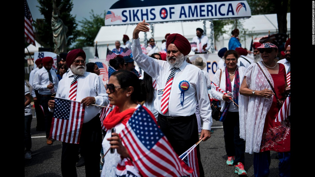 People gather for a July Fourth parade in Washington.