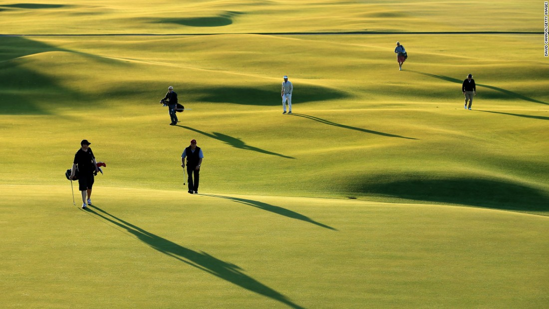 <strong>St. Andrews:</strong> The Old Course is known for its blind drives over seas of gorse, vast greens, and swales, humps and hollows which require imagination and the ability to use the ground to your advantage.