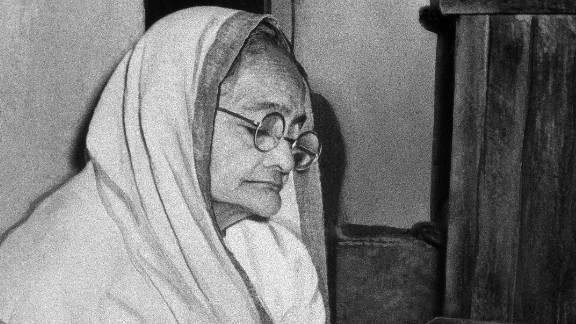 Shown in an undated photo, Kasturba Gandhi was the wife of Mahatma Gandhi.   Along with many other prominent women of these times, she fought for India