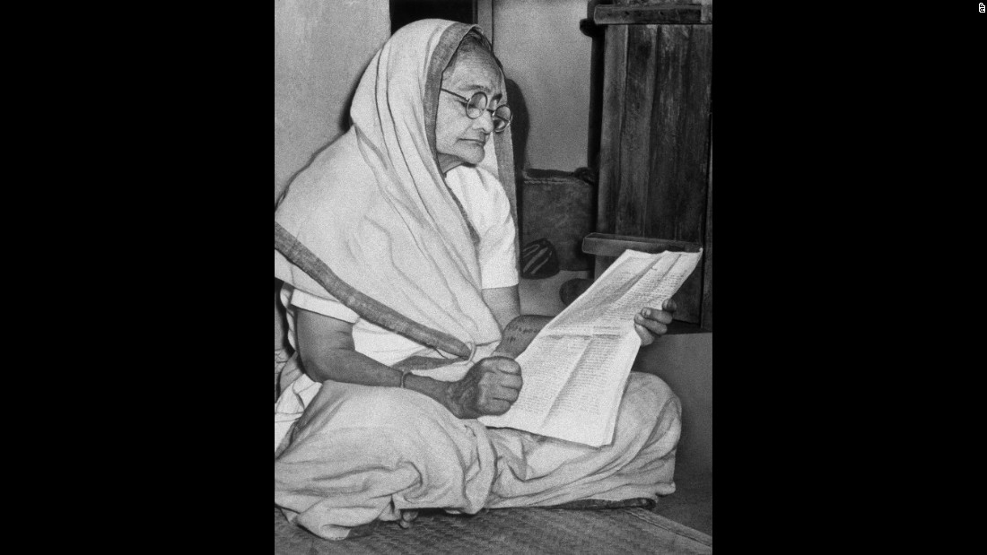 Shown in an undated photo, Kasturba Gandhi was the wife of Mahatma Gandhi. <br /><br />Along with many other prominent women of these times, she fought for India's independence from the British.
