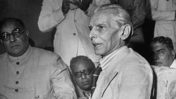Leader of the Muslim League, Muhammad Ali Jinnah (center), holds a press conference in Mumbai, India, in July 1946.   The Muslim League formed in 1906 to look after the interests of India