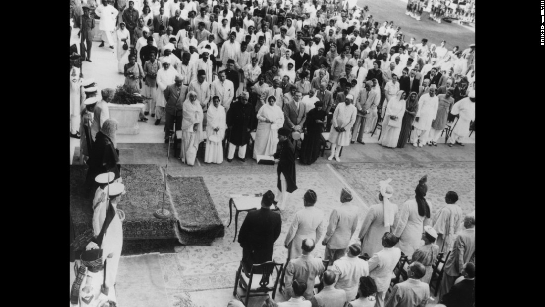 Jinnah is sworn in as the first Governor-General of the new Muslim nation of Pakistan at Government House in Karachi, Pakistan, on August 17, 1947.