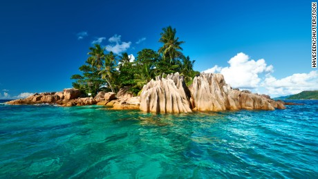 Beautiful St. Pierre Island at Seychelles.