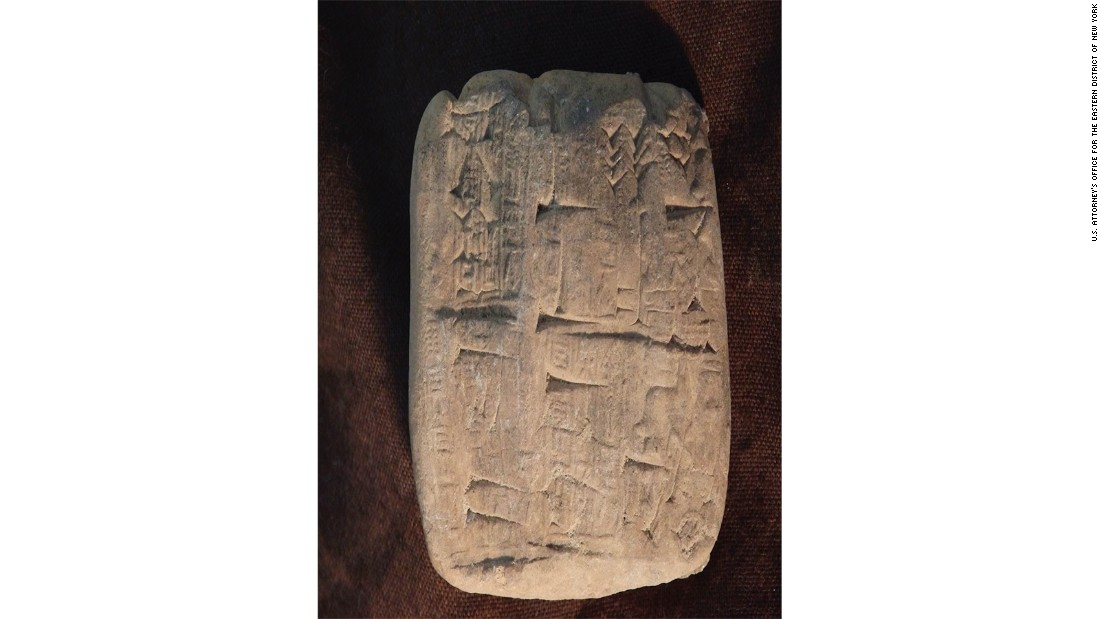 Ancient artifacts illegally smuggled to US retailer headed home to Iraq