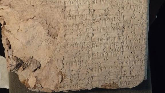 Cuneiform tablet.