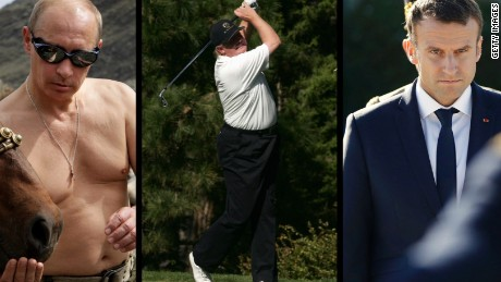 Trump, Putin, Macron ... who's the most macho?