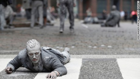 'Zombies' descend on Hamburg for G20 protest