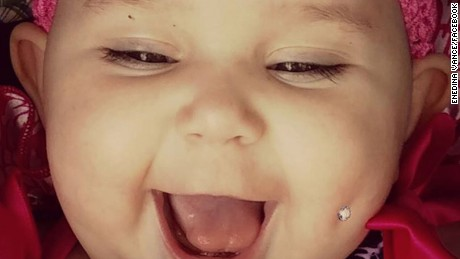 'Pierced' baby picture sparks outrage among parents