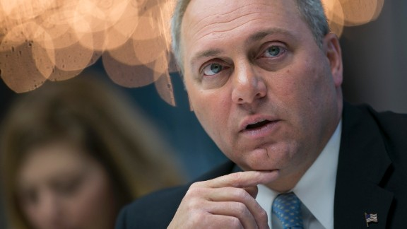 """US Rep. Steve Scalise, the House majority whip, was critically injured when he was shot during a congressional baseball practice in June. The Louisiana Republican was eventually released from intensive care, but he has been readmitted """"due to new concerns for infection,"""" a statement from his office said on Wednesday, July 5."""