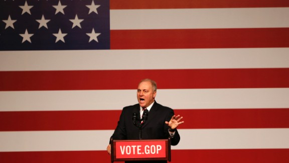 """Scalise speaks in December at a """"Get Out the Vote"""" rally in New Orleans."""