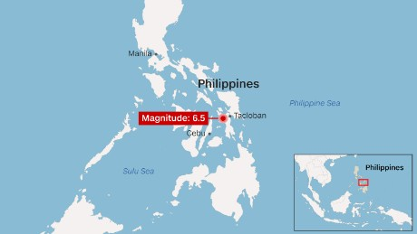 The quake struck just after 4 p.m. local time in the Philippines.