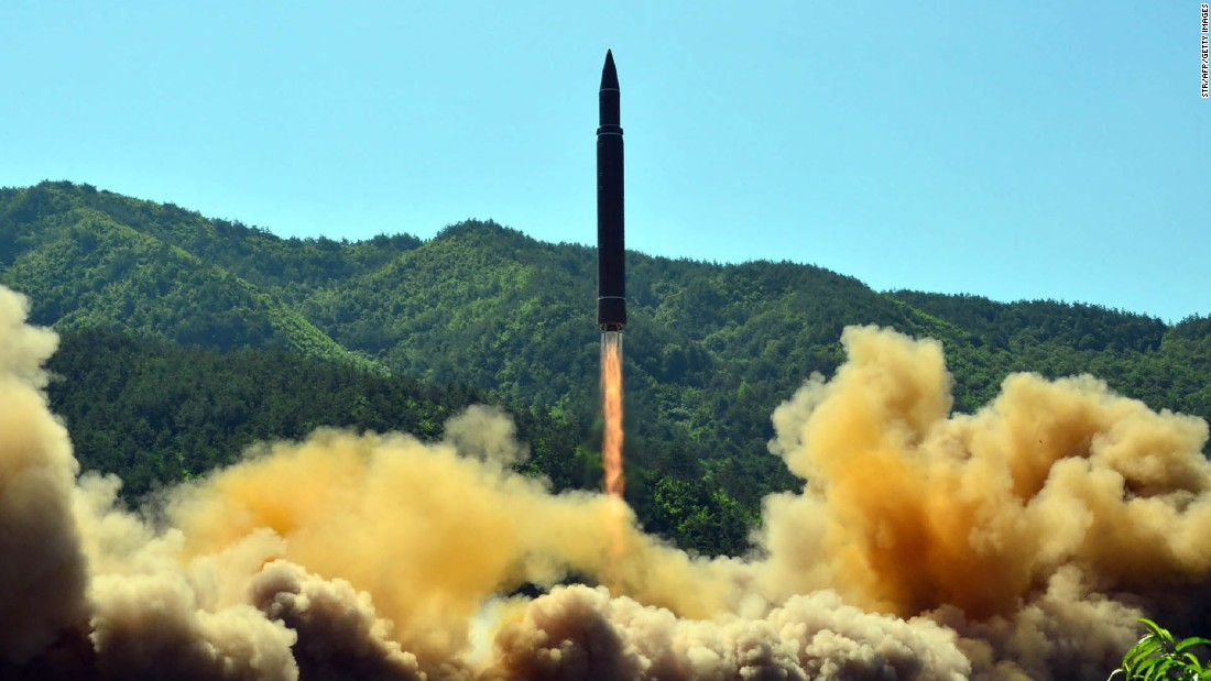 "This photo, released Tuesday, July 4, by North Korea's state-run news agency, shows what the agency says is the successful test-fire of the country's first intercontinental ballistic missile. The Pentagon late Tuesday confirmed <a href=""http://www.cnn.com/2017/07/05/asia/north-korea-missile-nuclear-gift/index.html"" target=""_blank"">North Korea's test</a> was of an ICBM, and South Korea's intelligence services confirmed the suspicion that its hostile neighbor fired a missile with a range greater than 5,500 kilometers -- the generally accepted lower limit of an ICBM."