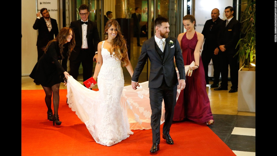 "Soccer star Lionel Messi <a href=""http://www.cnn.com/2017/06/30/football/lionel-messi-antonela-roccuzzo-wedding-rosario/index.html"" target=""_blank"">marries his childhood sweetheart,</a> Antonela Roccuzzo, in Rosario, Argentina, on Friday, June 30. More than 150 journalists covered the event."
