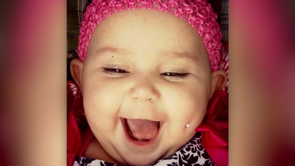 Enedina Vance Photoshopped a diamond piercing on a picture of her 6-month-old daughter.