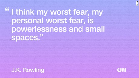 J.K. Rowling's worst fear? Small spaces
