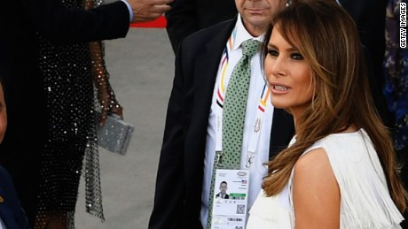 melania trump world stage