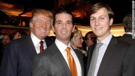 Donald Trump, Donald Trump Jr. and Jared Kushner attend Quest and Q Magazines Host Ivanka Trump Book Party at Trump Tower on October 14, 2009 in New York City, New York