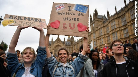 Students and young people have been some of the most vocal anti-Brexit protesters across Europe.
