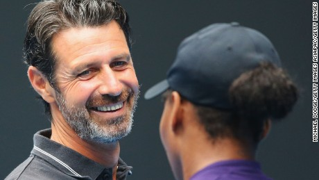 As well as coaching, Mouratoglou also works as a TV pundit.