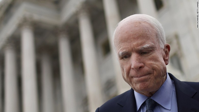 McCain will be absent from health care vote