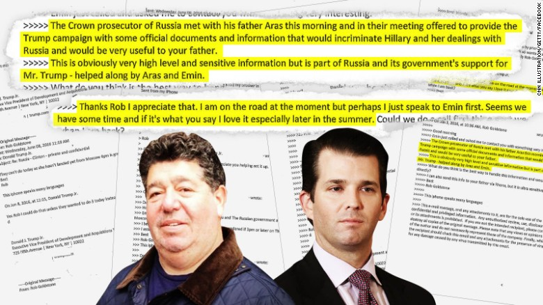 Trump Jr. tweets email chain on Russia meeting