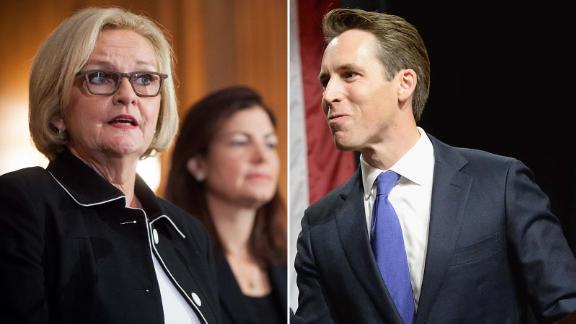 Sen. Claire McCaskill is being challenged by Missouri Attorney General Josh Hawley