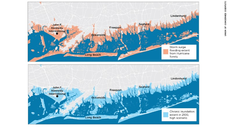 Higher seas to flood dozens of US cities, study says - CNN