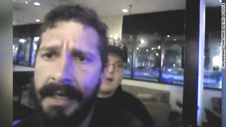 shia labeouf arrest video