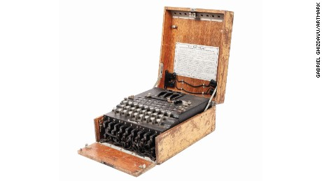 Enigma machines were used by the German military during World War II to encrypt messages.
