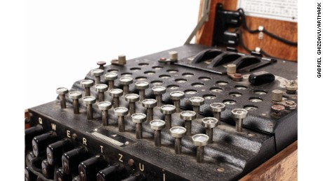 Enigma machines were used by the Axis powers to encode and decode secret messages during WWII.