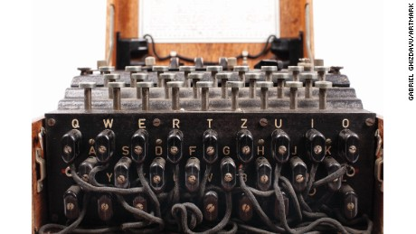 The fully functional German-made Enigma machine was sold at auction Tuesday.