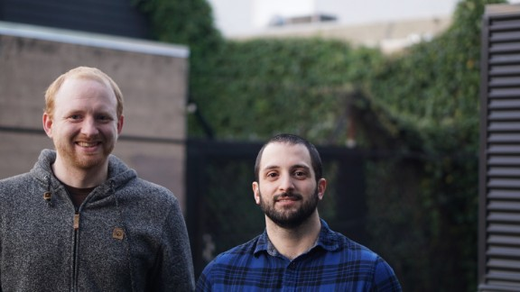 Ben Congleton, CEO and co-founder of Olark (left) with Matt Pizzimenti, the company