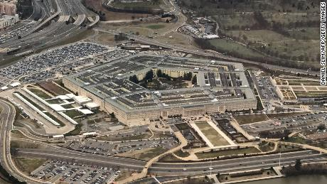 The Pentagon, the headquarters of the US Department of Defense, located in Arlington County, across the Potomac River from Washington, DC is seen from the air January 24, 2017.  DANIEL SLIM/AFP/Getty Images