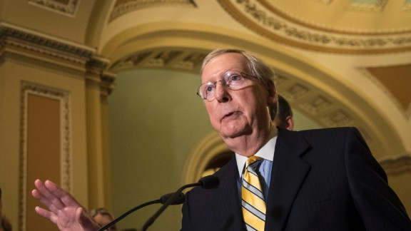 Senate Majority Leader Mitch McConnell (R-KY) speaks during a press conference after a closed-door Senate GOP conference meeting on Capitol Hill, June 27, 2017 in Washington, DC. The Senate GOP announced they will delay a vote on their health care bill until after the July 4 recess. (Photo by Drew Angerer/Getty Images)