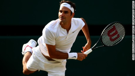 Roger Federer is bidding to win a record eighth Wimbledon title.
