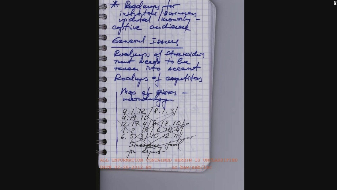 The FBI secretly searched their home and found this notebook. It helped them break the code that spies were using to communicate with Moscow. The notebook contained a strange system of numbers and letters which turned out to be computer keystrokes. After using trial and error with several combinations, investigators cracked the 27-digit password which opened messages hidden inside photographs that spies had posted online. When the FBI was able to crack the code, they could then eavesdrop on what the spies planned to do next.