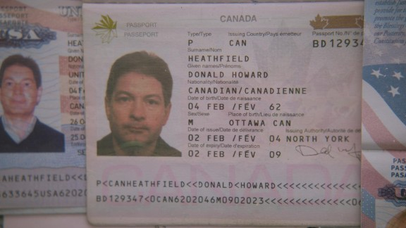 Another of the ten spies was living in Boston. He went by the name Donald Howard Heathfield and held this Canadian passport.
