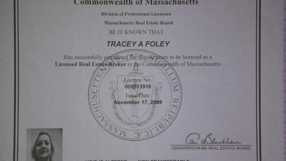 Foley had this Massachusetts real estate broker