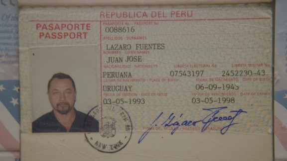 Another member of the group of ten was a man known as Juan Lazaro, who held this Peruvian passport while living in New York City.