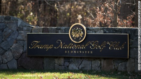 A view of the entrance to Trump National Golf Club, Bedminster, New Jersey.
