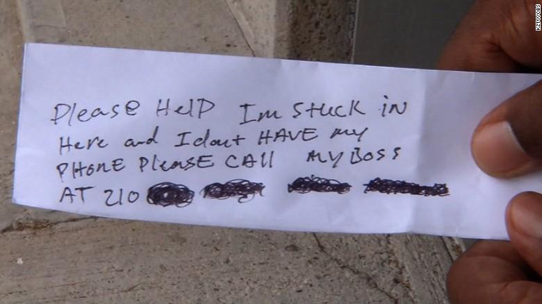 Repairman gets stuck in ATM