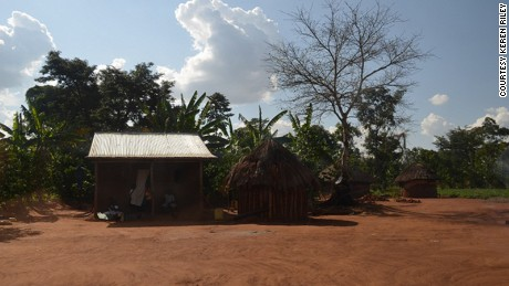Mata's home in Uganda; she was one of seven village children taken from their parents with the promise of better schooling.