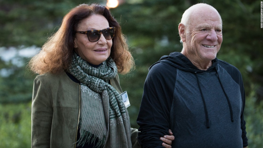 Fashion designer Diane von Furstenberg and her husband, Barry Diller, chairman of InterActiveCorp