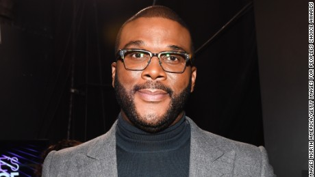 LOS ANGELES, CA - JANUARY 18:  Honoree Tyler Perry, recipient of the Favorite Humanitarian Award, poses backstage at the People's Choice Awards 2017 at Microsoft Theater on January 18, 2017 in Los Angeles, California.  (Photo by Emma McIntyre/Getty Images for People's Choice Awards)